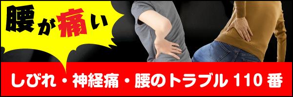 しびれ・神経痛・腰痛治療 整体