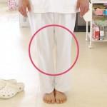ひざの隙間のチェック方法